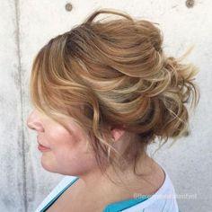 60 Creative Updo Ideas for Short Hair - Hair styles - Hairdos Ideas Short Hair Bun, Fast Hairstyles, Cute Hairstyles For Short Hair, Wedding Hairstyles, Curly Hair Styles, Curly Bun, Black Hairstyles, Curly Hair Headband, Headband Curls