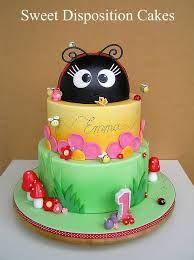 lady bug cake for birthday girl Birthday Cake Girls, First Birthday Cakes, Cupcakes, Cupcake Cakes, Cake Pops, Ladybird Cake, Garden Party Cakes, Ladybug Cakes, Girly Cakes