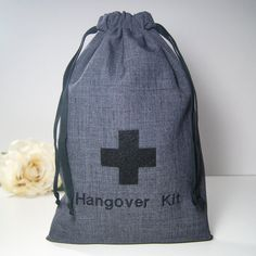 Mens Hangover Kit Bag    Ready to ship in 1 to 2 weeks. Cant wait that long? See our shop for non-personalized mustache or necktie gift bags (ready to