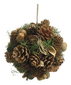 Take a look at this Pinecone & Acorn Ornament Ball by Allstate Floral & Craft on #zulily today!