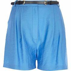 Blue smart high waisted shorts £30.00