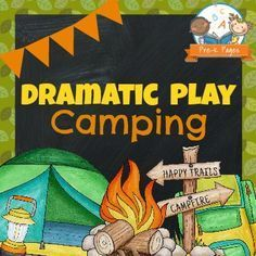 Dramatic play camping theme printables for the dramatic play center in your preschool, pre-k, or kindergarten classroom.