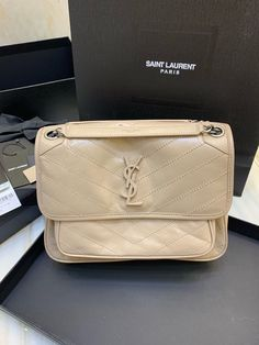 Ysl Saint Laurent new niki medium shoulder bag Saint Laurent Bag, Ysl, Zip Around Wallet, Saints, Shoulder Bag, Medium, Bags, Fashion, Handbags