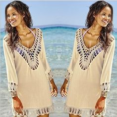 2016 Summer Beach Bikini Crochet Cover Up , Sexy Mmoda Praia Swimsuit Cover Up , Beachwear Women Beach Cover up 9371