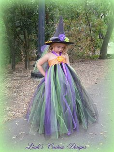 Little Halloween Witch Tutu Dress & Custom por sweethearttutus