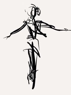 Pointe. Digital gesture drawing from dance recital. 3/8/2014 Kevin Houchin