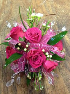 fuchsia roses corsage for prom - Bing Images