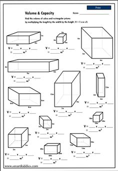 Volume of a Rectangular Prism Worksheet | Volume | Pinterest ...