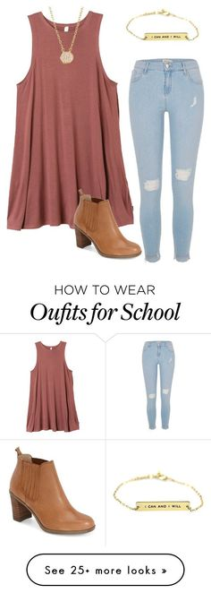 """""""school"""" by hannahmmeyer on Polyvore featuring River Island, RVCA, SonyaRenée and Dr. Scholl's"""