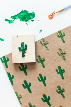 DIY CACTUS ECOdECO Furniture delivers online tools that help you to stay in control of your personal information and protect your online privacy. Diy And Crafts, Arts And Crafts, Paper Crafts, Notebook Diy, Eco Deco, Cactus Print, Cactus Cactus, Stamp Carving, Creation Deco