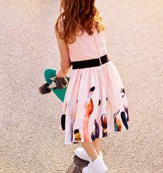 Dress by Molo Milk Magazine, Cute Girl Dresses, Ss 2017, Kid Styles, Design Trends, Cute Girls, Midi Skirt, Kids Outfits, Tees