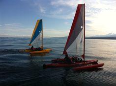 """Hobie """"Adventure Island"""" sail-kayaks"""