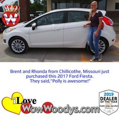 Brent and Rhonda were super excited when they purchased this 2017 Ford Fiesta! Congratulations! 🎉 #wow #wowwoodys #woodysautomotive #cars #trucks #suvs #carsforsale #trucksforsale #suvsforsale #kansascity #chillicothe #customerreviews #customertestimonials #wowcarbuying #carshopping #happycustomers #2017fordfiesta #2017ford #fordfiesta #ford #fiesta