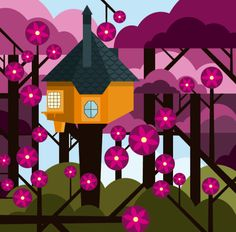 Tree Houses. Illustrations by Patrick Hruby