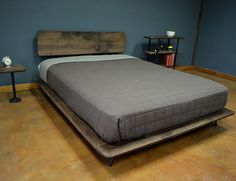 kanso bed by deliafurniture on Etsy Cama Industrial, Bed Designs, Bed Rooms, Bed Mattress, Black Kitchens, Cot, Bed Frame, King Size, Drawing Ideas