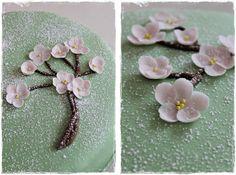 Omenankukkia Fondant Cakes, Cupcake Cakes, Cupcakes, Swirl Cake, Surprise Cake, Ombre Cake, Ruffle Cake, Pretty Cakes, Birthdays