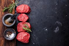 Check out Raw fresh marbled meat Steak by liskina-nora on Creative Market