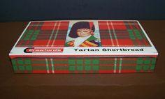 "Vintage Crawford's Tartan Shortbread Tin Box Metal Christmas Holiday British 9"" #Crawfords"