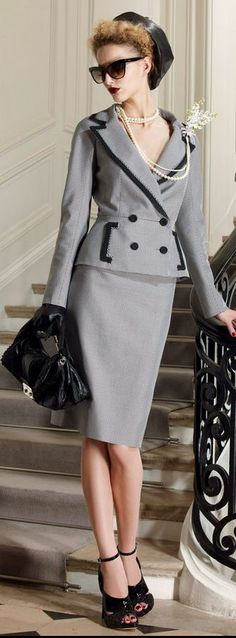 #DIOR: Resort 2010  Women's suits #2dayslook #new style #suitsdresses  www.2dayslook.com