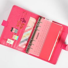 Say Hello to the Dokibook Lovedoki Planner Cover. These are bright candy color leather planner covers. Available in A5 or A6 measurement. With high-quality paper, this pack will seamlessly fit into your life. This planner set arrives with inner paper. You will not be disappointed in this planner! We guarantee your satisfaction. Does not include accessories seen in pictures. Please allow up to 3 weeks for delivery. School Organisation, Planner Organization, Time Planner, Stationery Items, Office Stationery, Leather Notebook, Office And School Supplies, Candy Colors, Kpop