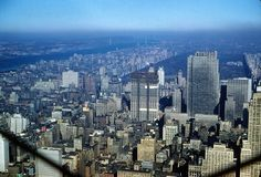New York City, Central Park and Manhattan, view from Empire State Building