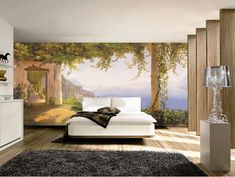 Wall murals are unique paintings or digital prints and photo wallpaper on walls and ceilings