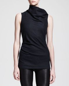 Sonar Wool Asymmetric-Neck Top by Helmut Lang at Neiman Marcus.