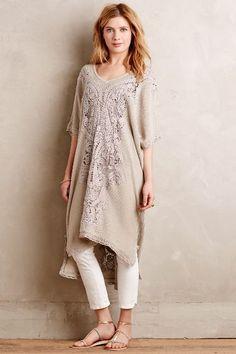 Navan Crochet Caftan - anthropologie.com