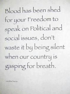 Do not remain silent: