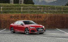 Download wallpapers Audi RS5, 2018, red coupe, German cars, red new RS5, Audi