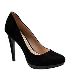 Love these too! Cole Haan Womens Chelsea Suede Pumps #Dillards