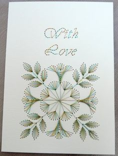Stitched card variegated thread