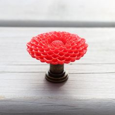 Flower Drawer knobs Mum in Red more COLORS available by DaRosa $4.25