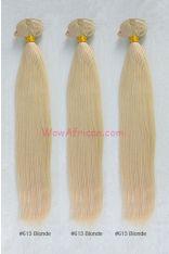 Dyable Blonde (#27 #613) Silky Straight Virgin Brazilian Hair Weave 3pcs Bundles [WB241]