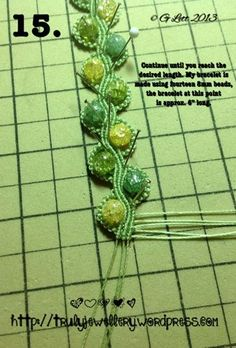 All at Sea Micro Macrame Bracelet tutorial picture 15