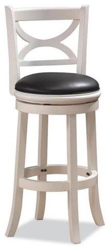 Boraam 29-Inch Florence Swivel Bar Stool - contemporary - bar stools and counter stools - Hayneedle
