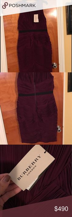 Burberry dress Brand-new plum Burberry dress tags still on it Burberry Dresses Midi