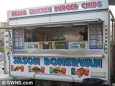 Jason Donervan, a kebab van in Bristol Burger And Chips, Top List, Business Names, Bristol, Britain, Van, Signs, Hamburger And Fries, Vans