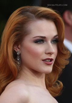 Evan Rachel Wood -  Red Hair Perfect Makeup!