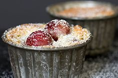 Cherry-Almond Gratin - The flavor in this gratin recipe stops time. The almond top melds perfectly with the sweet spiked juice of the cherries. It is a perfect recipe to welcome in cherry season. - from 101Cookbooks.com
