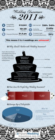 This infographic was created to highlight some of the findings from our 2011 study of wedding insurance. This shows the sale of over insurance p Wedding Planning Timeline, Destination Wedding Planner, Wedding Officiant Script, Uk Bride, Wedding Insurance, Bridal Photography, Wedding Blog, Wedding Ideas, Car Rental