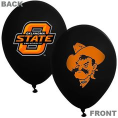 Oklahoma State Cowboys 10-Pack 11'' Latex Party Balloons - Black