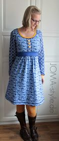 """*** I totally ADORE this Dress!! Ask on FB if there is a similar PDF pattern to this??  UPDATE: Just found the Pattern as a Pin... A Drawing of the Pattern: """"Onion 2041"""" = http://www.pinterest.com/pin/11259067788811920/ *** - Confusion w/ blog where I found this pattern due to language on the Adobe/PDF Patterns wording, There are other cute & free patterns but, same PDF issue :/ ---> http://joma-style.blogspot.de/2014/10/rums-48-mit-blue-porcelaine.html?m=1"""