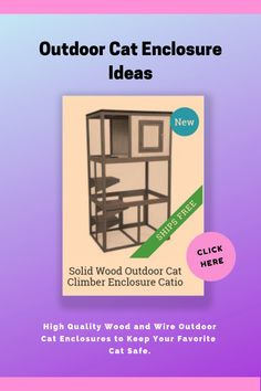 Outdoor cat containment systems offer safe and efficient ways to contain your cat when needed. Our selection of high quality wood and wire outdoor cat enclosures allow you to provide your cat a safe environment to enjoy the outdoors.  Choose from a variety of sizes and features, accommodating both kittens and adult cats.  #outdoorcatenclosure #catios #catthings #ad #aff Outdoor Cat Enclosure, Outdoor Cats, Cat Photography, Catio, Cat Furniture, Beautiful Cats, Cat Breeds, Cool Cats, Cats And Kittens