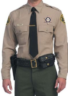 Sheriff/Deputy Sheriff uniform - cooler weather (based on Los Angeles Sheriff Department Uniform) Security Uniforms, Security Guard Services, Police Uniforms, Police Officer, Uniform Dress, Men In Uniform, Military Men, Military Jacket, Sheriff Department