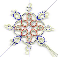 """In the previous post, I talked about how to move an object's center of rotation to create """"automatic"""" pattern repeats. I used very basic e. Thread Crochet, Knit Crochet, Mad Tatter, Needle Tatting Patterns, Tatting Tutorial, Tatting Lace, Lace Making, Lace Patterns, Bobbin Lace"""