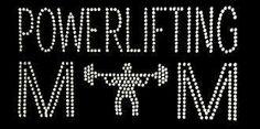 Rhinestone Iron On Powerlifting Mom Rhinestone Transfer DIY Sports Mom, Sports Gifts, Dot Painting, Painting Patterns, Rhinestone Transfers, Motif Design, Youre Invited, Powerlifting, As You Like