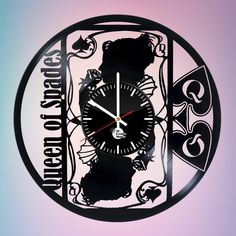 Queen of Spades The Dark Rite Handmade Vinyl Record Wall Clock Fan gift - VINYL CLOCKS