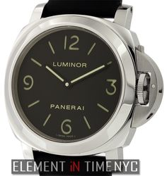 Officine Panerai Luminor 44mm iN Stainless Steel With A Black Arabic Sandwich Dial (PAM 112)