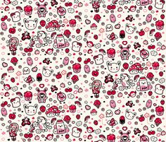 Kawaii fabric by babybubbleco on Spoonflower - custom fabric